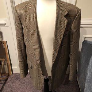 Handsome plaid tweed sports coat